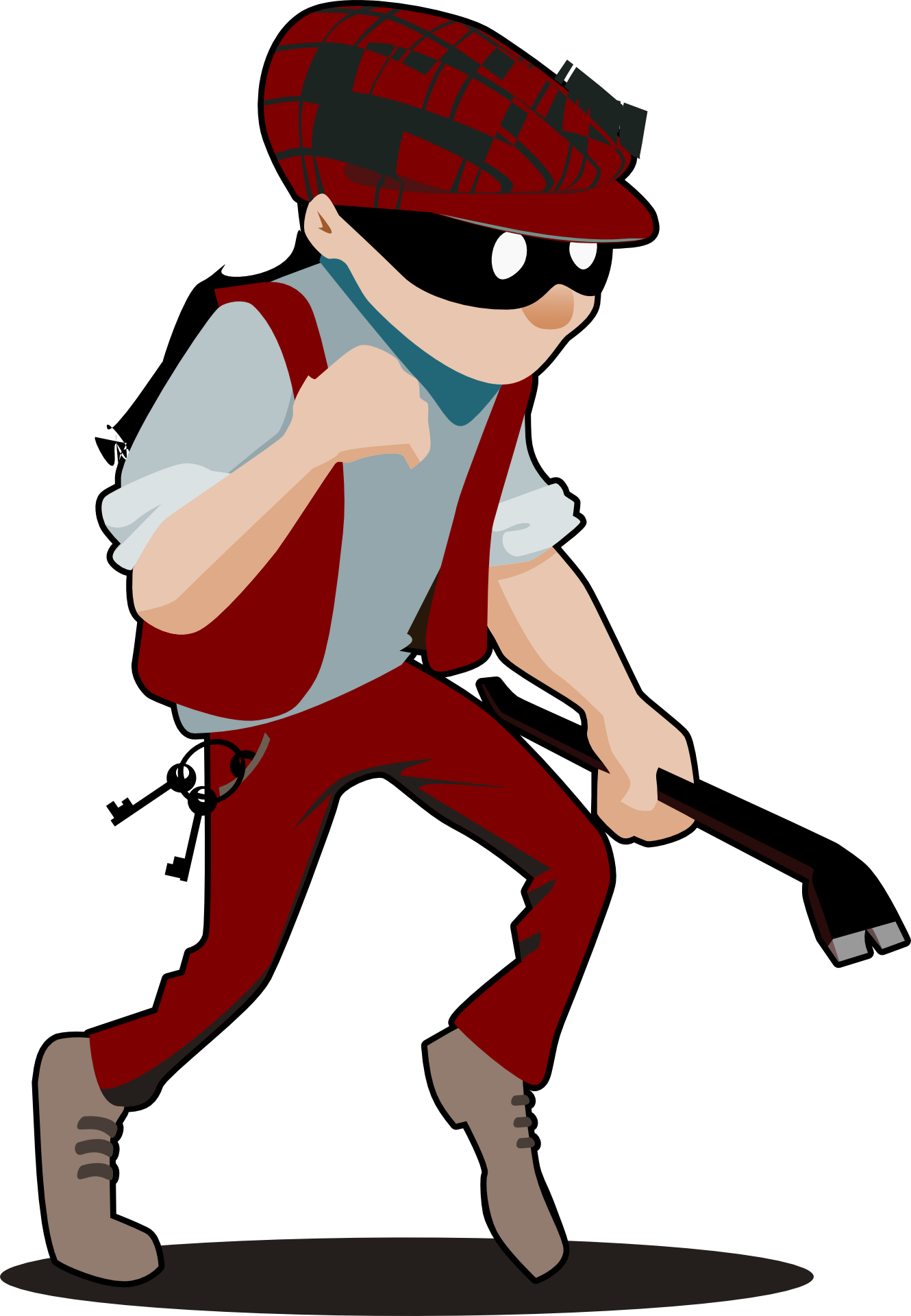 Male burglar clipart free image.