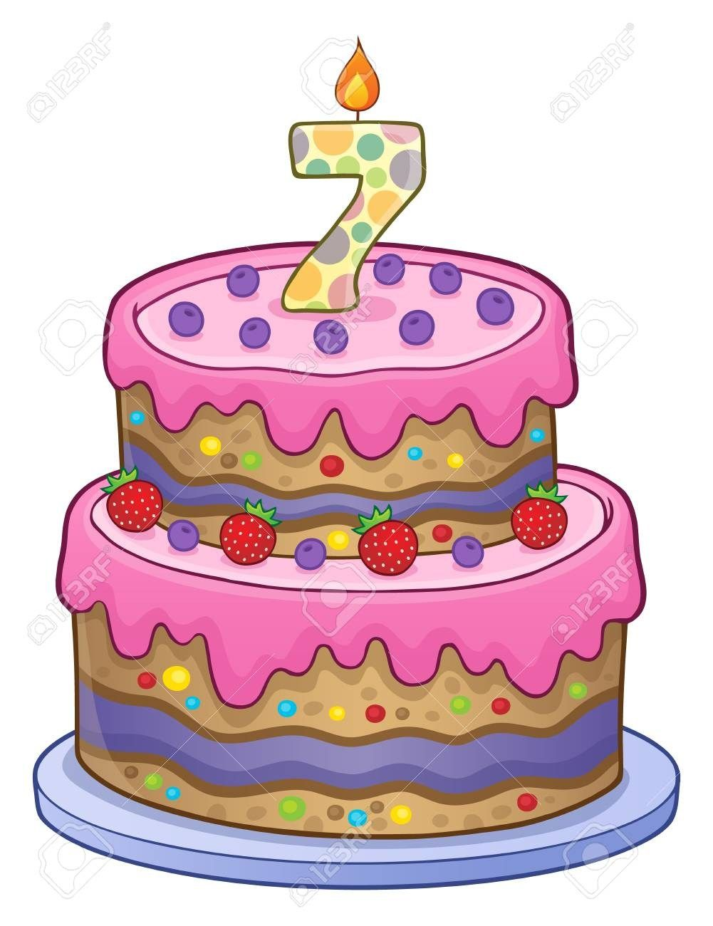 32+ Exclusive Picture of 7 Year Old Birthday Cake.