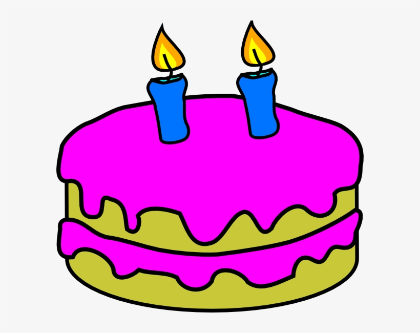 Flickering Birthday Candle Clipart.