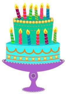 Birthday cake clipart with or without candles free files.
