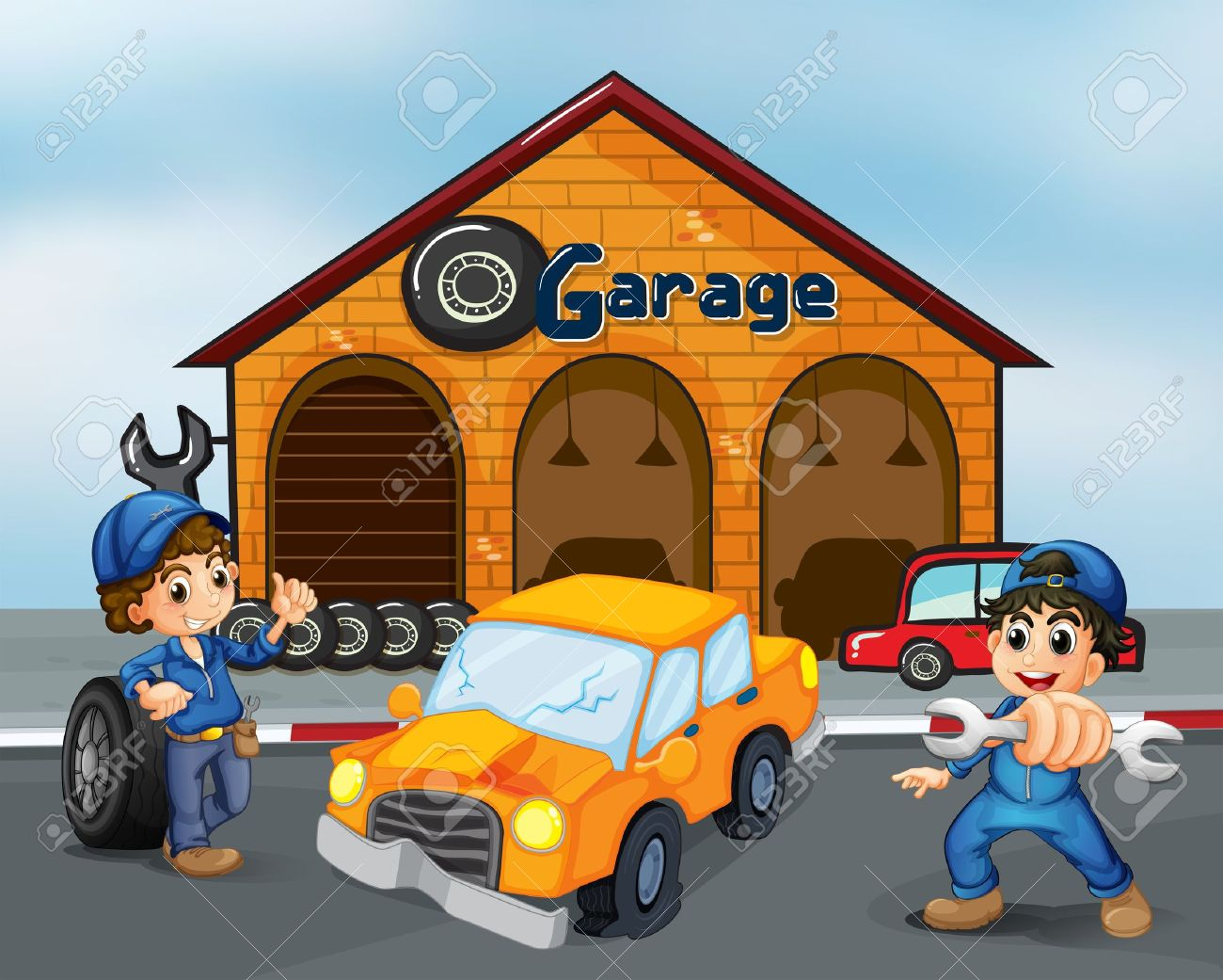 Showing post & media for Cartoon car garage.