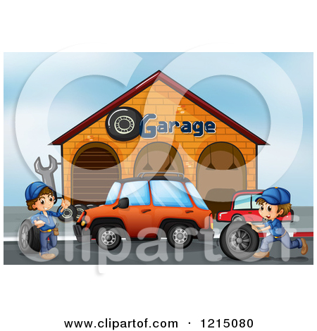 Clipart of a Mechanics Garage.