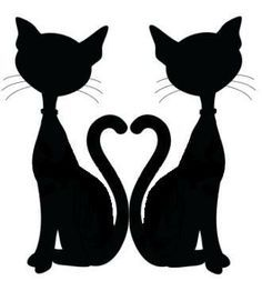 28+ Collection of Two Black Cats Clipart.