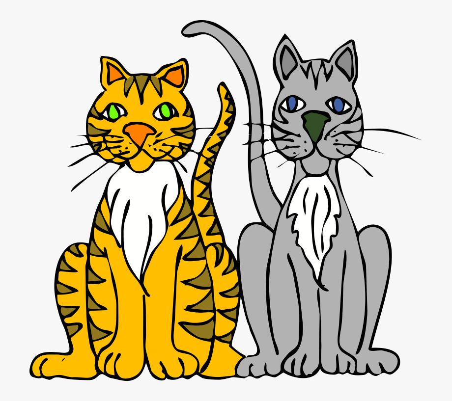 Clip Art Two Cats, Cliparts & Cartoons.
