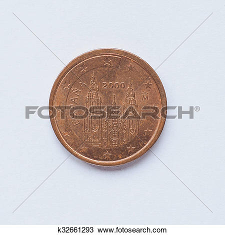 Stock Photo of Spanish 2 cent coin k32661293.