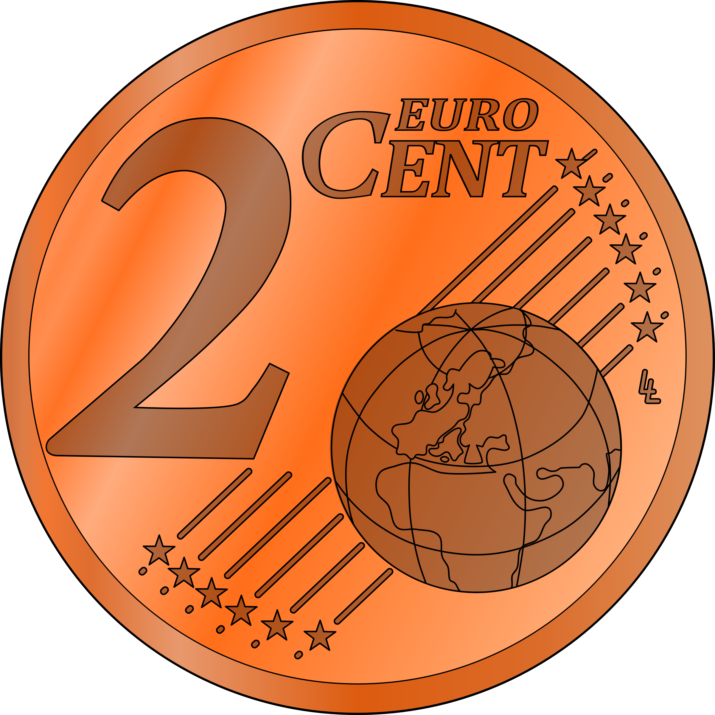 2 Cents Clipart.