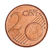 Stock Photo of A collage of 2 euro cent coin k5897303.