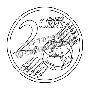 Cent Black And White Clipart.