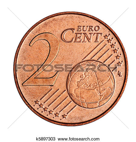 Stock Photography of 3 euro cent coin k5897321.