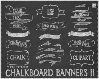 Image result for ribbon clip art chalk.
