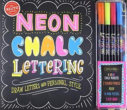 KLUTZ Neon Chalk Lettering Toy.