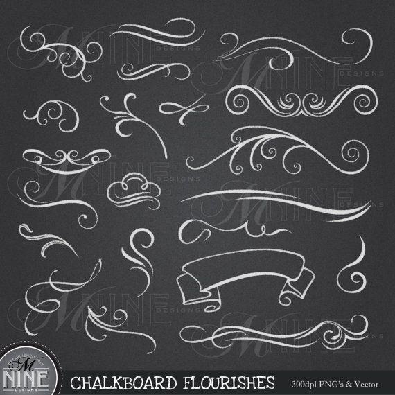 CHALKBOARD Clip Art: \