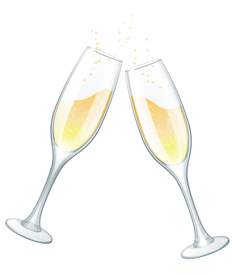 wedding glasses clipart.