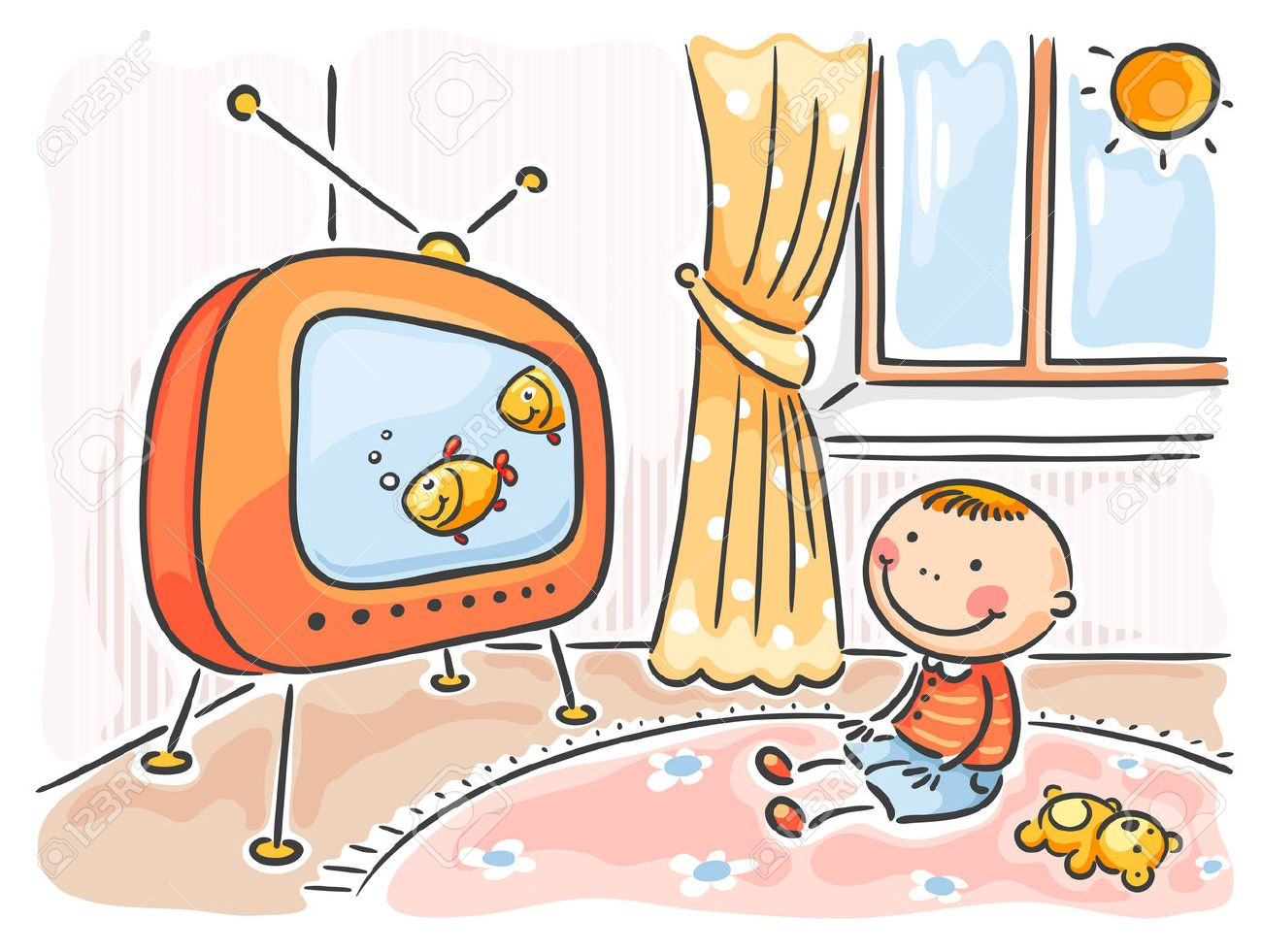 Child watching tv clipart 2 » Clipart Station.