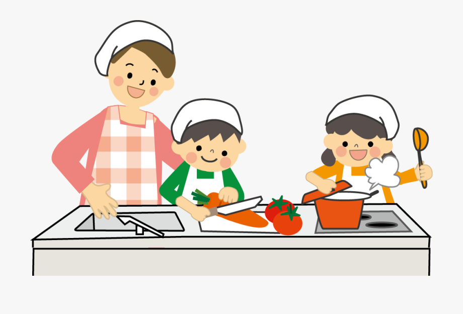 Children Clipart Cooking.