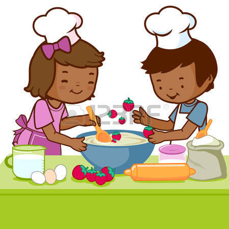Cooking With Kids Clipart.