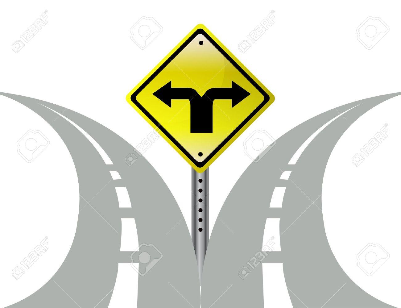 2 Roads Clipart.