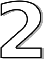 number 2 clipart images #8