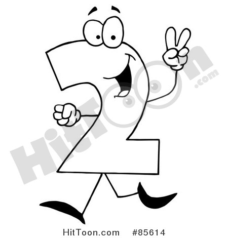 Number Black And White Clipart#1882560.