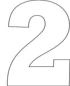 Number 2 Clipart Black And White Ruler.
