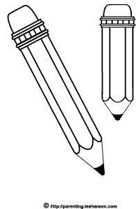 school supplies clipart black and white.