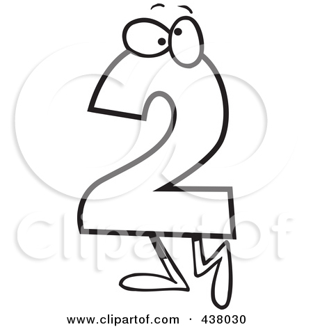 Number Two Clipart Black And White.