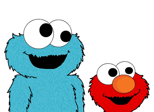 Cookie monster baby clipart 2.
