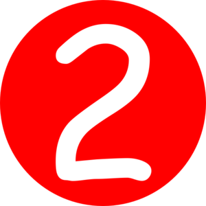 Red Number 2 Clipart.