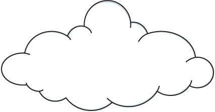 Cloud clip art black and white free clipart images 2.