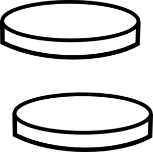Two Clear Coins Clip Art.