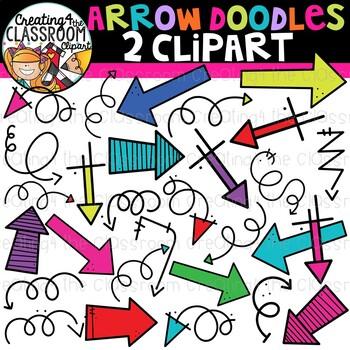 Arrow Doodles 2 Clipart {Sellers Clipart}.