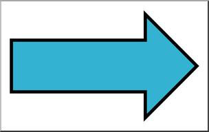 Clip Art: Arrow 01 Blank Right Color 2 I abcteach.com.