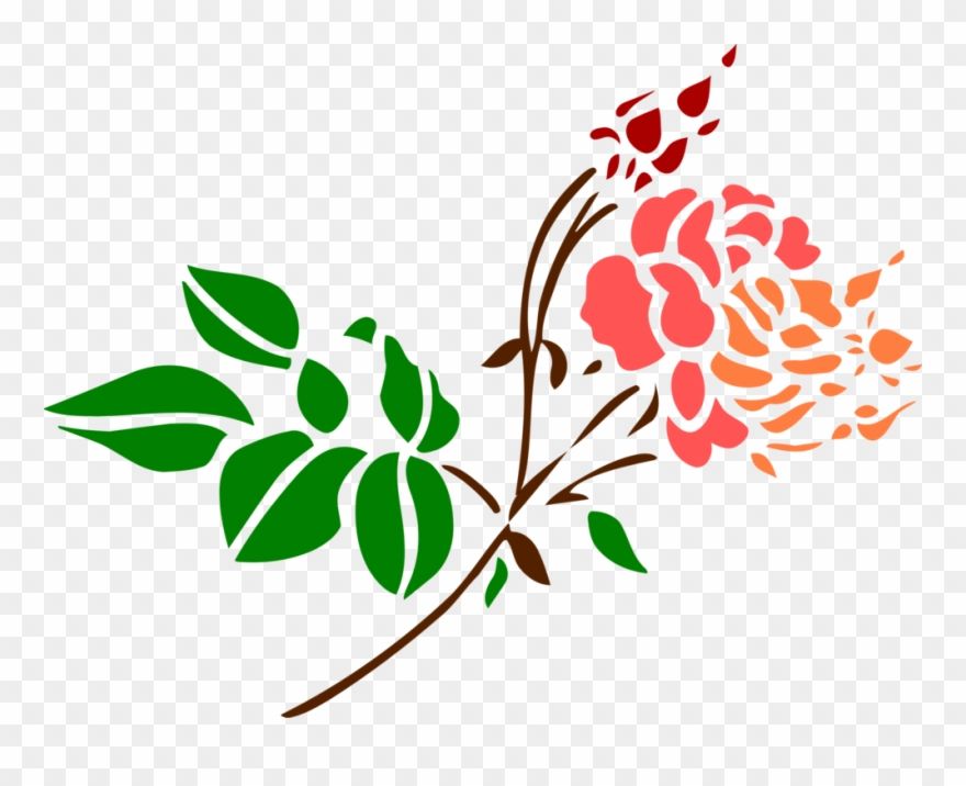 Floral Design Rose Computer Icons Color Line Art.
