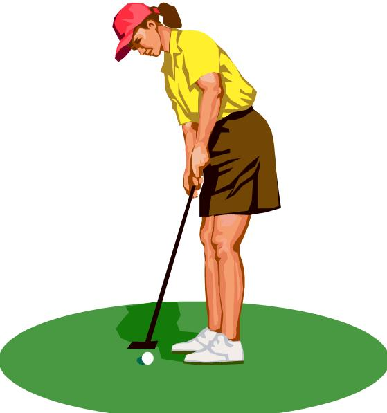 Girl golf clip art free clipart images 2.