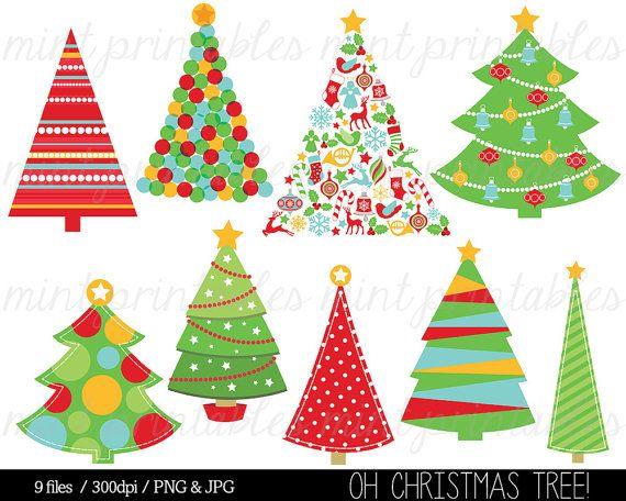 Christmas Clipart, Christmas Tree Clip Art, Christmas Trees.