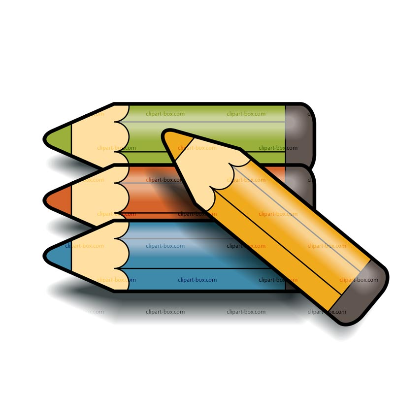 463 Colored Pencils free clipart.