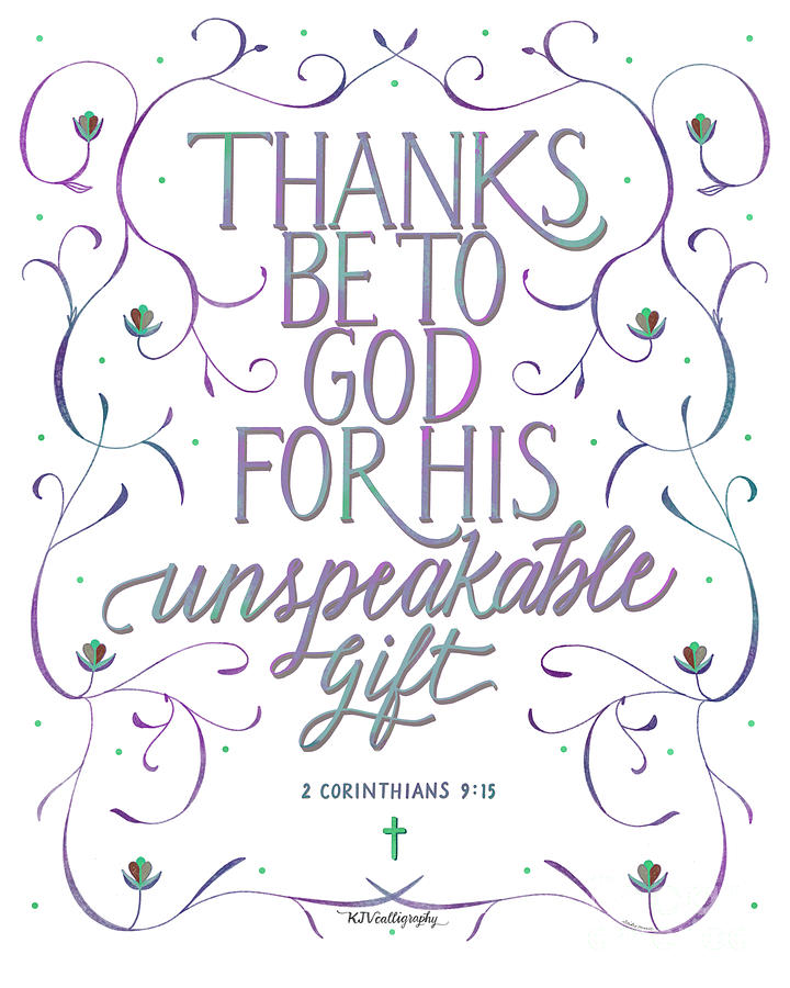 Scripture Art Of 2 Corinthians 9.