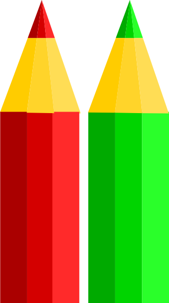 Crayons clipart two, Crayons two Transparent FREE for.