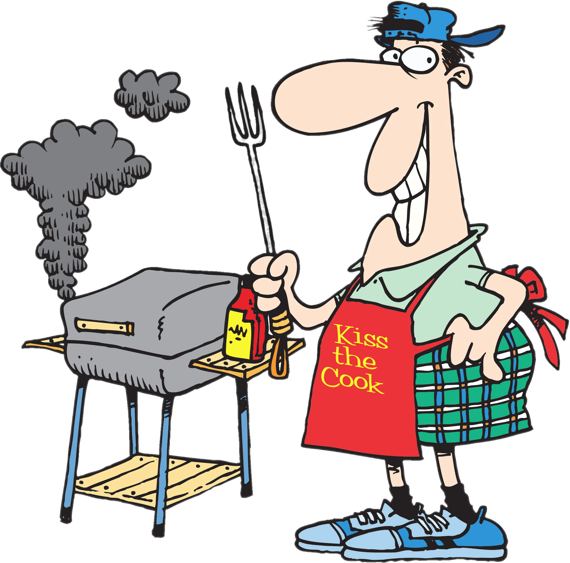2 crazy cooks grilling clipart Transparent pictures on F.