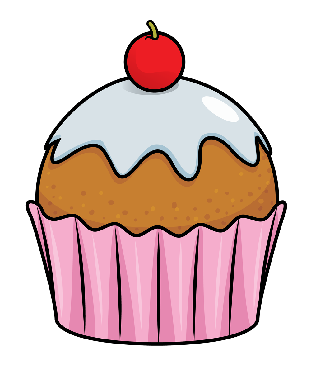 7654 Cupcake free clipart.