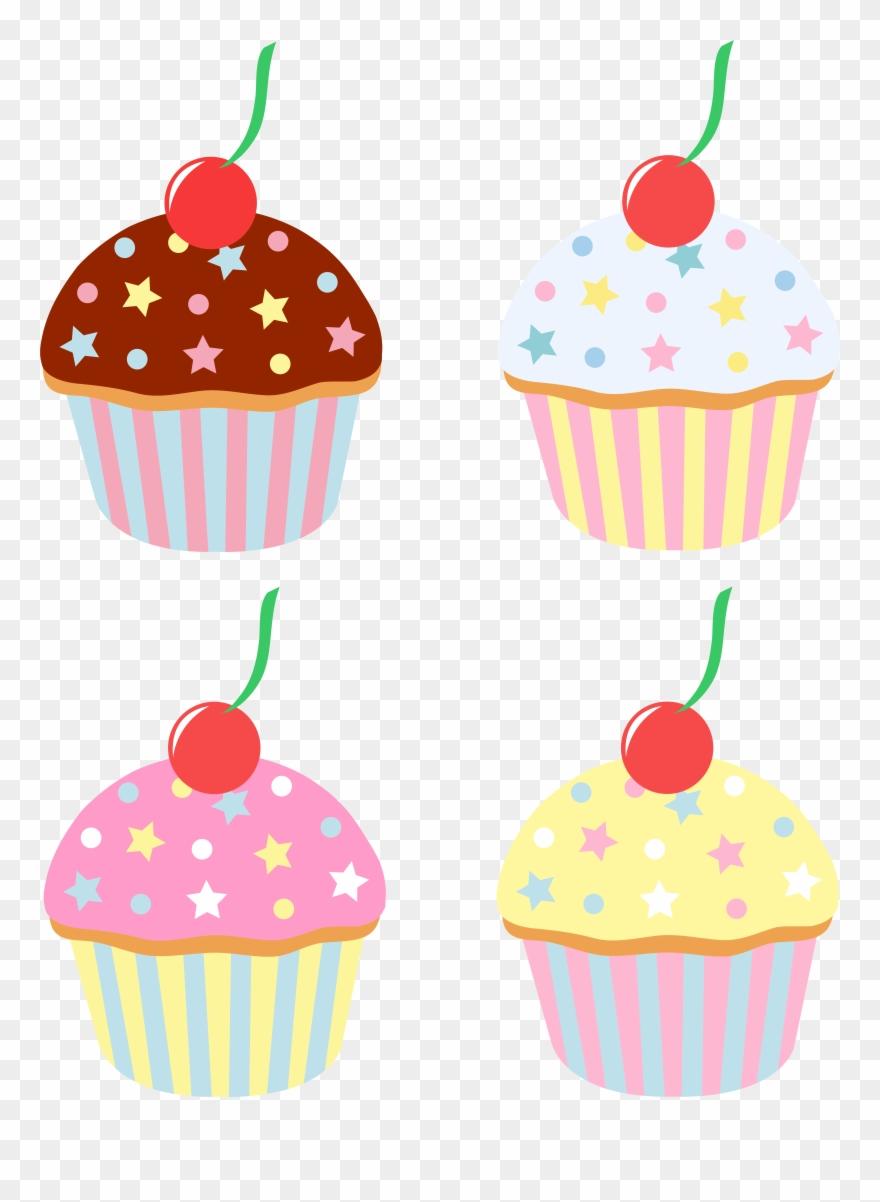 Vanilla Cupcake Clipart Sprinkle Clipart.