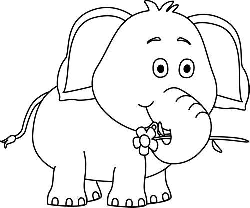 Cute Elephant Clipart.