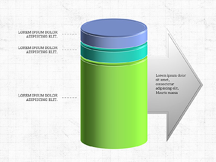 3D Stacked Cylinder Diagram.