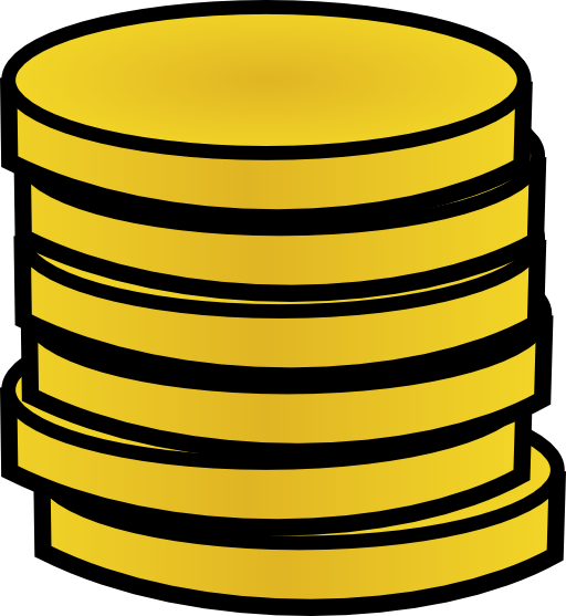 Stack Of Gold Coins Clipart.