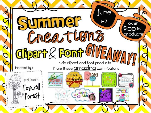 First Grade in Foxwell Forest: Clipart and Font GIVEAWAY.