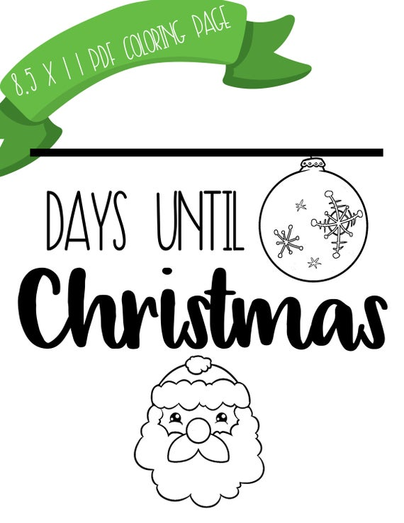 Christmas Countdown Sign, Days until Christmas sign, Xmas countdown,  Printable holiday countdown, Christmas activity, classroom activity.