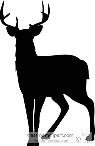 Silhouettes Mule Deer Silhouette 630 2 Classroom Clipart.