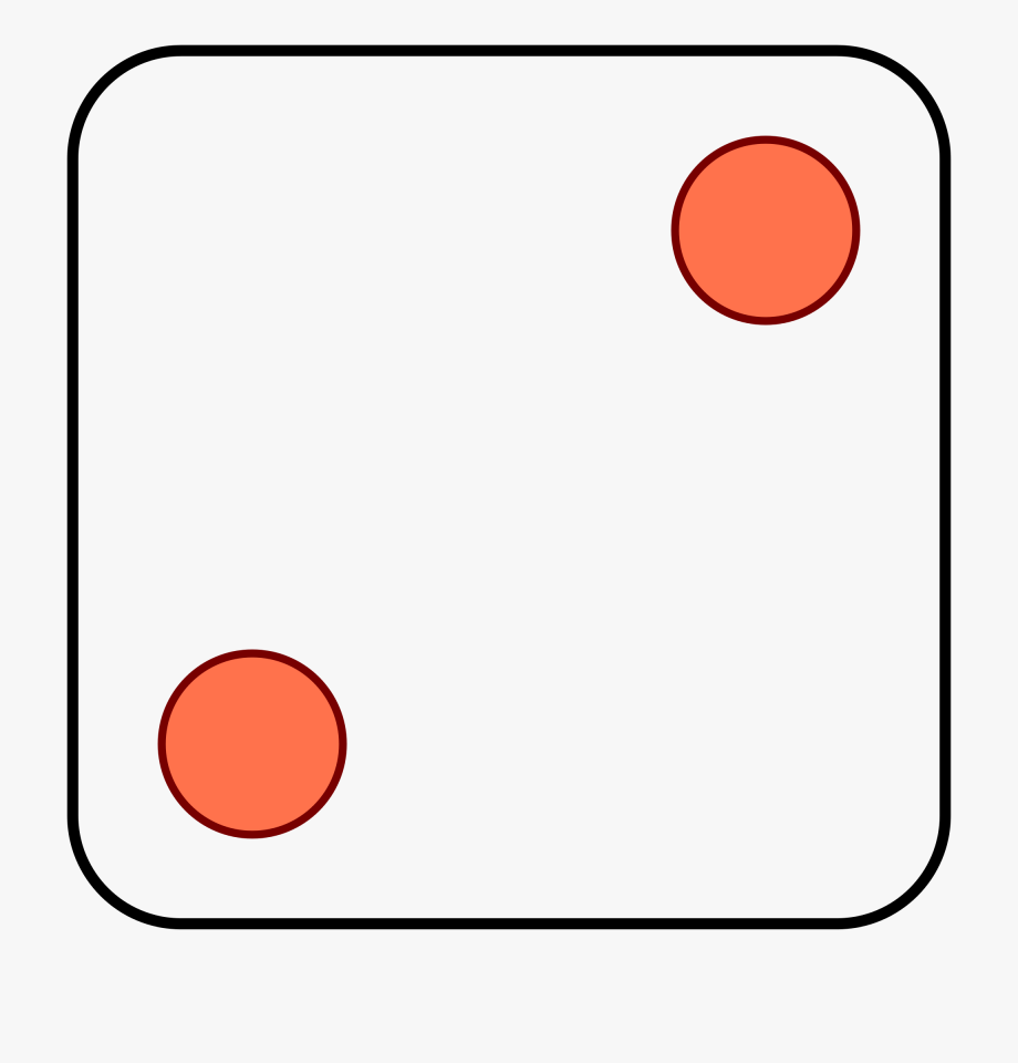 Dice Clipart Number 2.