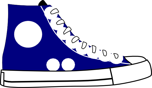 Tennis shoes clipart black and white free 2.