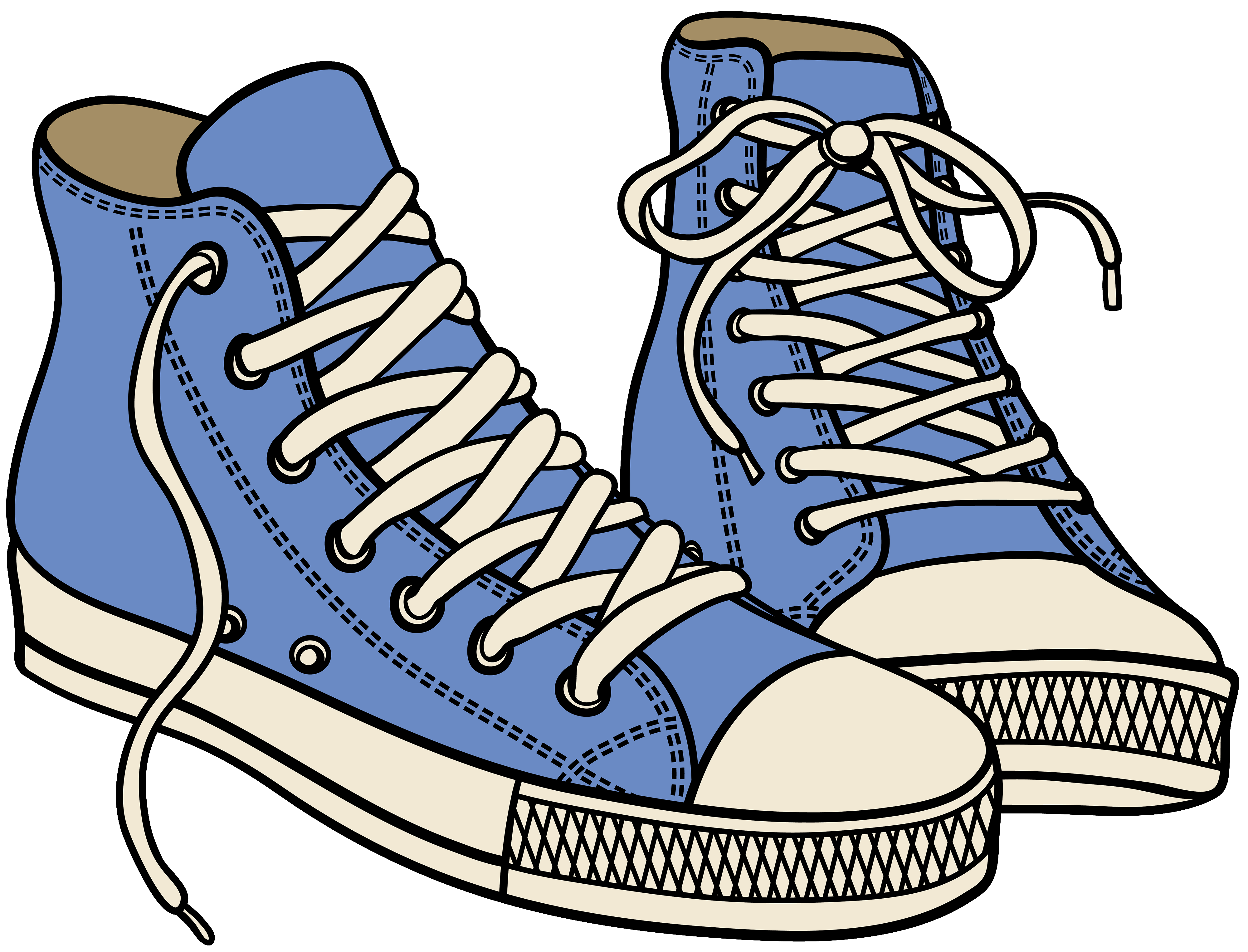 Sneaker tennis shoes clipart black and white free 2.